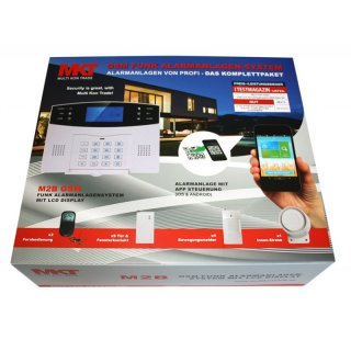 Set 4: M2B GSM Funk Alarmanlagensystem mit LCD Display